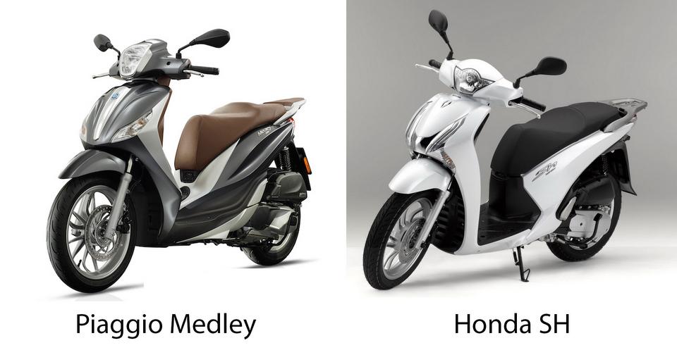 Nên mua Piaggio Medley hay Honda Sh?