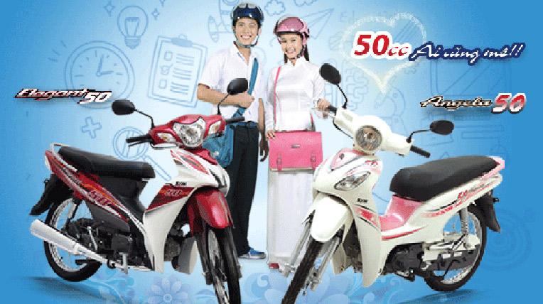 Xe máy 50cc giá rẻ dành cho học sinh cấp 3 mới nhất 2016